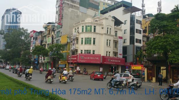 Bán nhà mặt phố Trung Hòa 175m2 MT: 6,7m lô góc giá 58tỷ