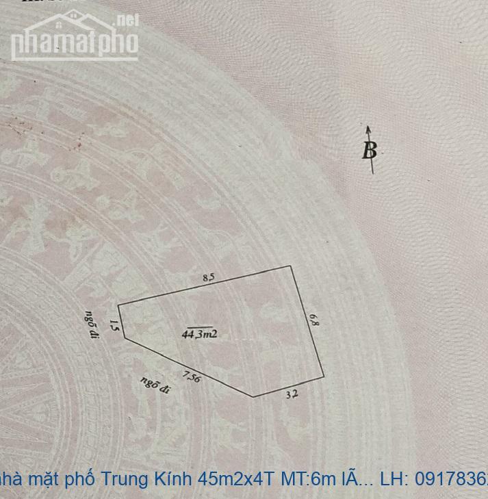 Bán nhà mặt phố Trung Kính 45m2x4T MT:6m lô góc giá 15tỷ