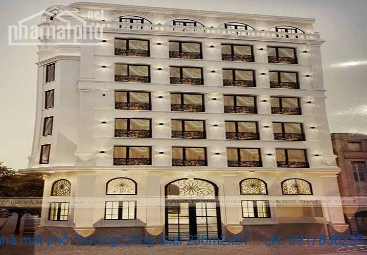 Bán nhà mặt phố Trương Công Giai 236m2x8T MT:40m khách sạn giá 130tỷ