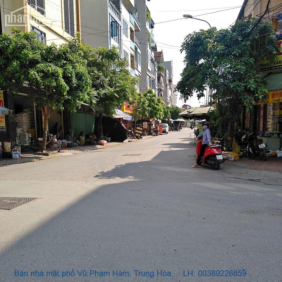 Bán nhà mặt phố Vũ Phạm Hàm, Trung Hòa, Cầu Giấy 145m2 giá 39tỷ