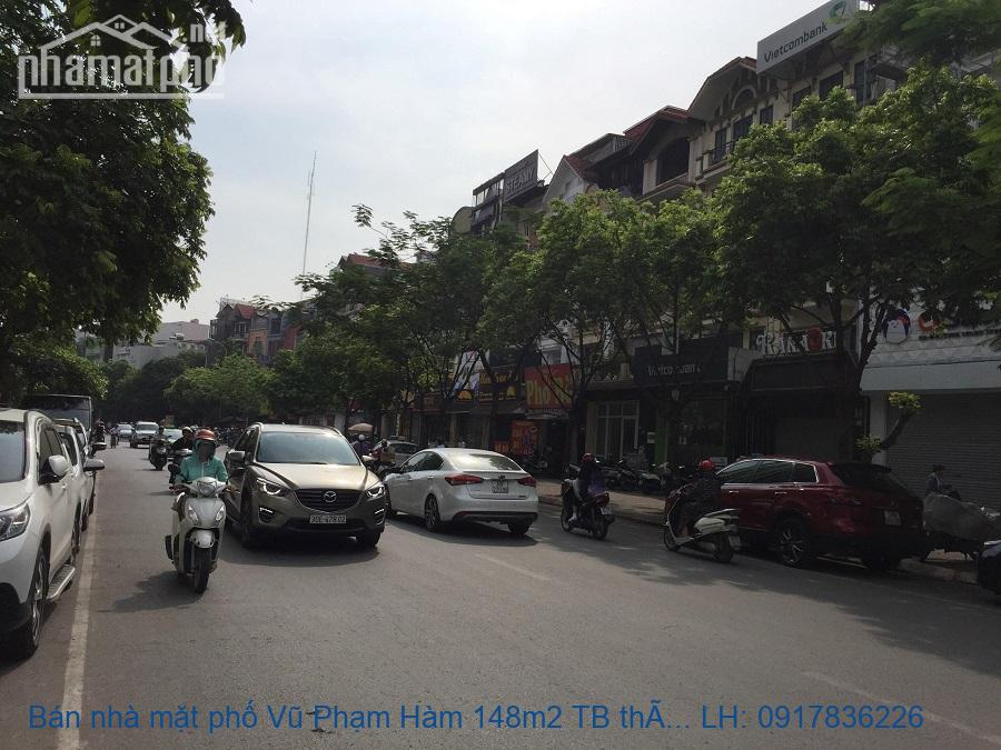 Bán nhà mặt phố Vũ Phạm Hàm 148m2 TB tháng máy giá 43tỷ