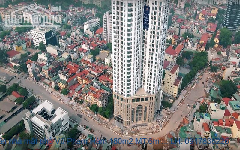 Bán nhà mặt phố Vũ Phạm Hàm 180m2 MT:6m giá 64tỷ