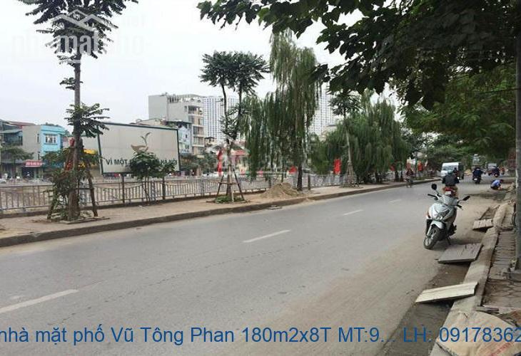 Bán nhà mặt phố Vũ Tông Phan 180m2x8T MT:9m giá 63tỷ