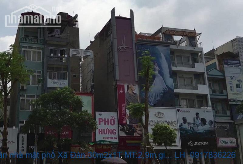 Bán nhà mặt phố Xã Đàn 30m2x1T MT:2,9m giá 11,3tỷ