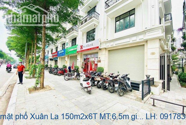 Bán nhà mặt phố Xuân La 150m2x6T MT:6,5m giá 48tỷ