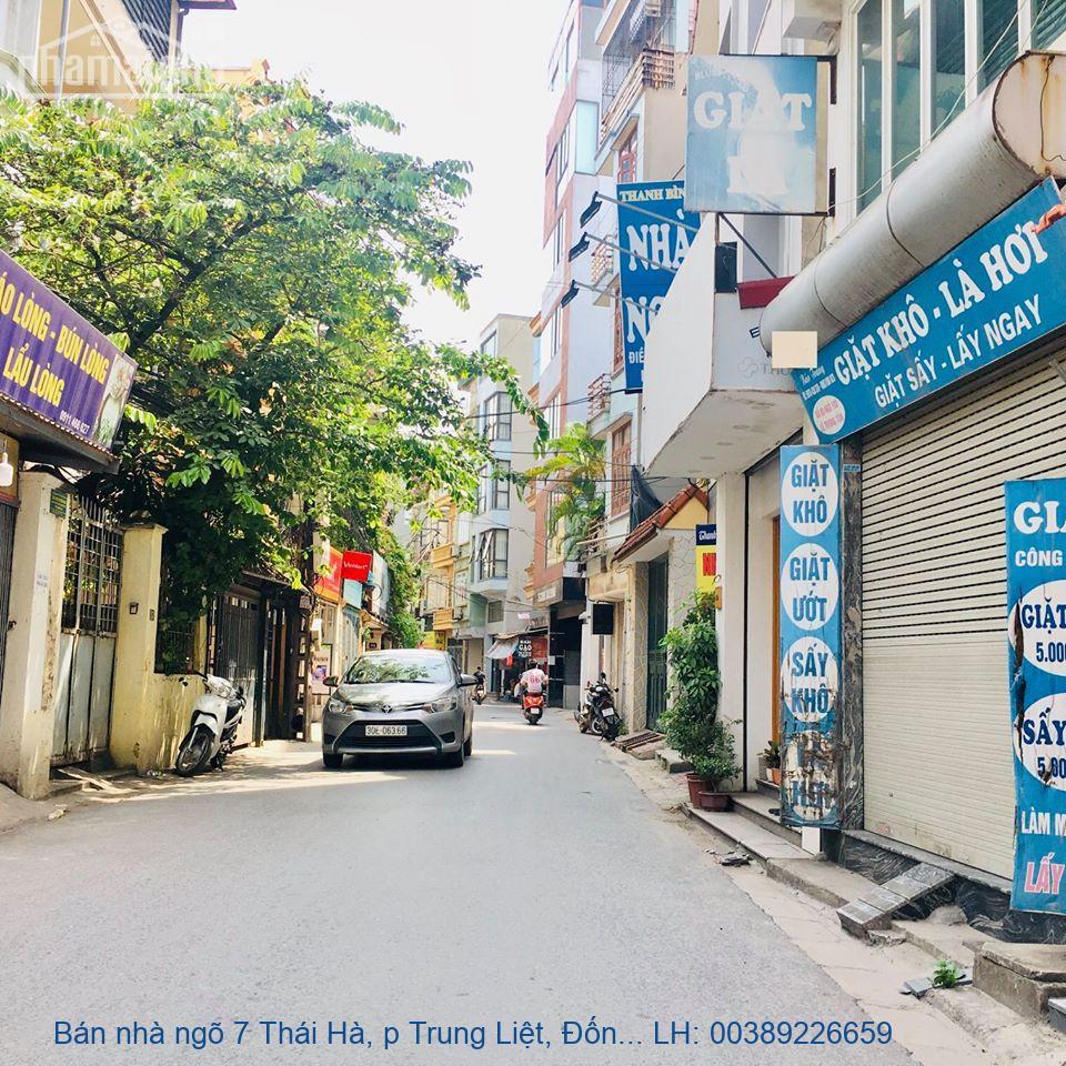 Bán nhà ngõ 7 Thái Hà, p Trung Liệt, Đống Đa 100m2 giá 20 tỷ