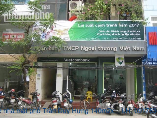 Cho thuê nhà mặt phố Trần Duy Hưng 140m2x5T