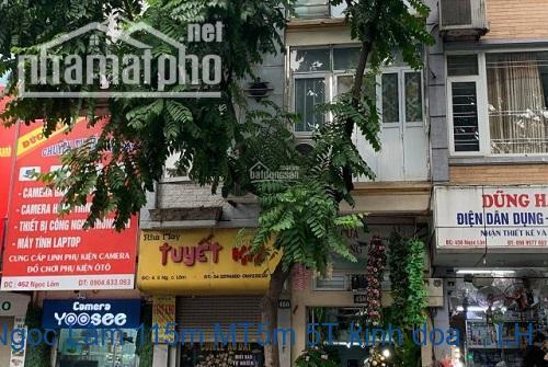 Nhà mặt phố Ngọc Lâm 115m MT5m 5T kinh doanh tốt nhất